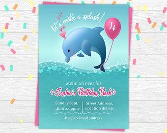 Dolphin birthday invite dolphin birthday invitation dolphin dolphin invitation dolphin birthday invitation dolphin invite under the sea invitation dolphin printable invitation filmwisefo