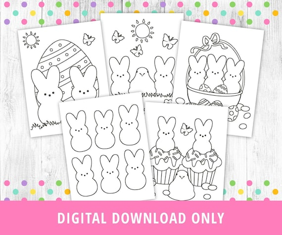 Easter Coloring Pages Printable Peeps Coloring Pages Easter