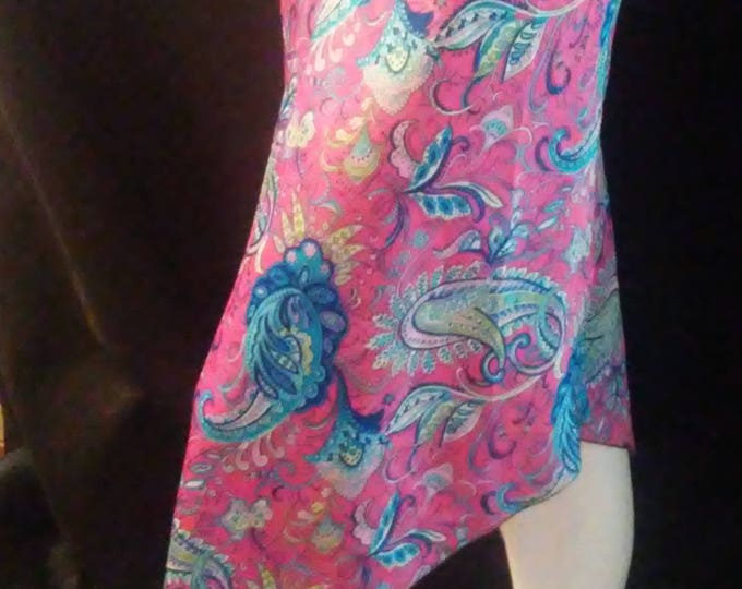 70's Silky Skirt with Scarf Hem