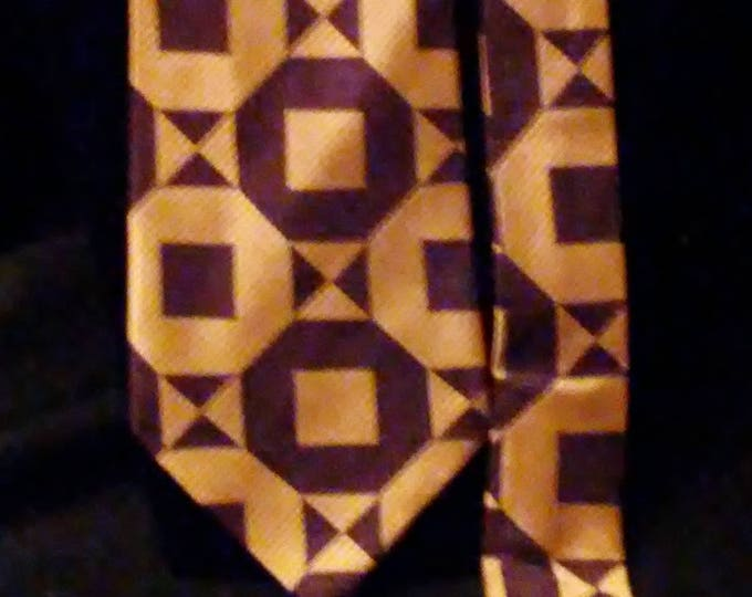 Mod Vintage 60's Swiss Fabric Tie