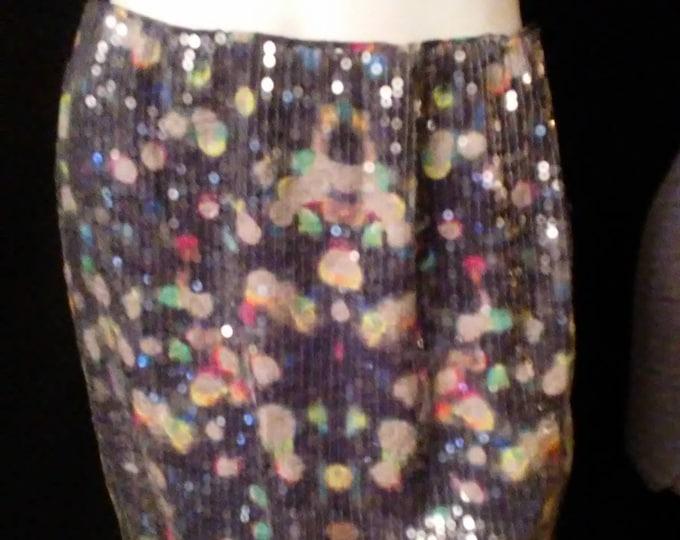 Sequin Bubble Mini Skirt