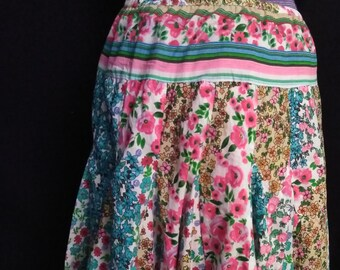SALE!  1/2 Off Vintage Phool Cotton Skirt