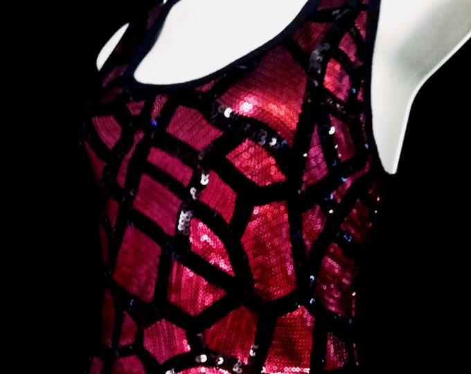 Sequin Spiderweb Tank