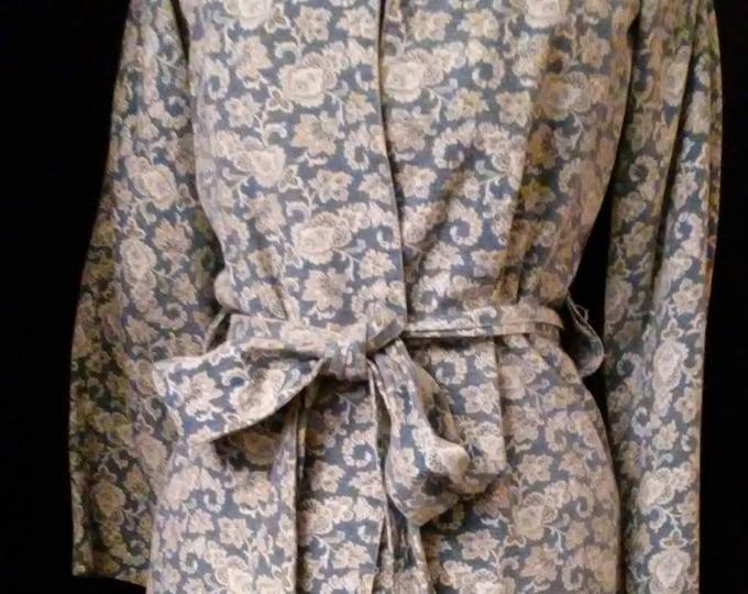 SALE! Vintage 70's Mod Paisley Cotton Coat