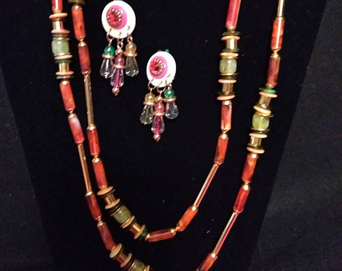 Whimsical Tribal Necklace & Earring Set