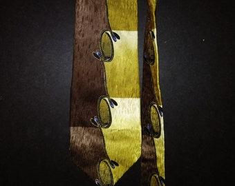 Vintage Hand-Sewn Silk Tie