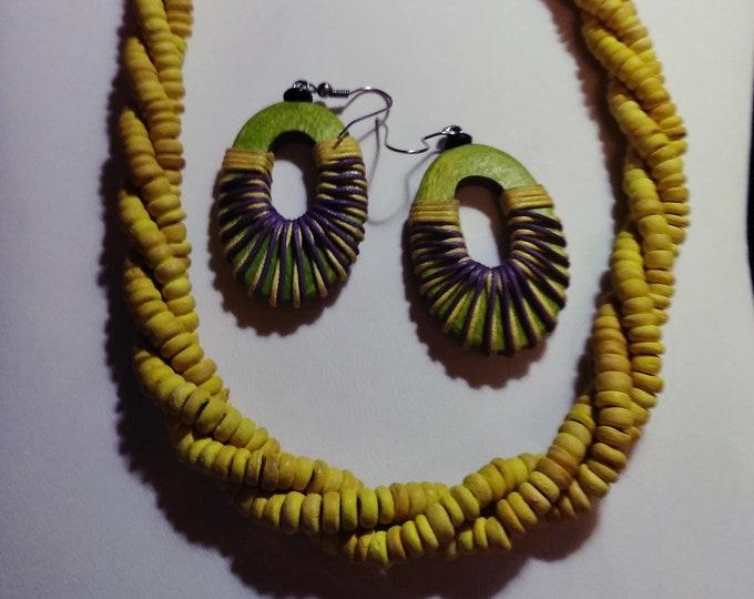 Tribal Choker & Earrings