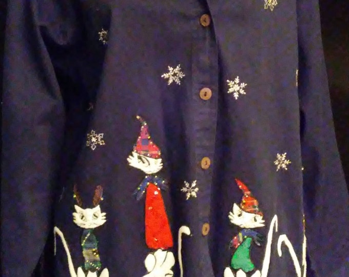 Awesome Cool Cat Christmas Shirt