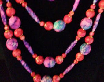 Vintage Tie-dye Strand of Beads