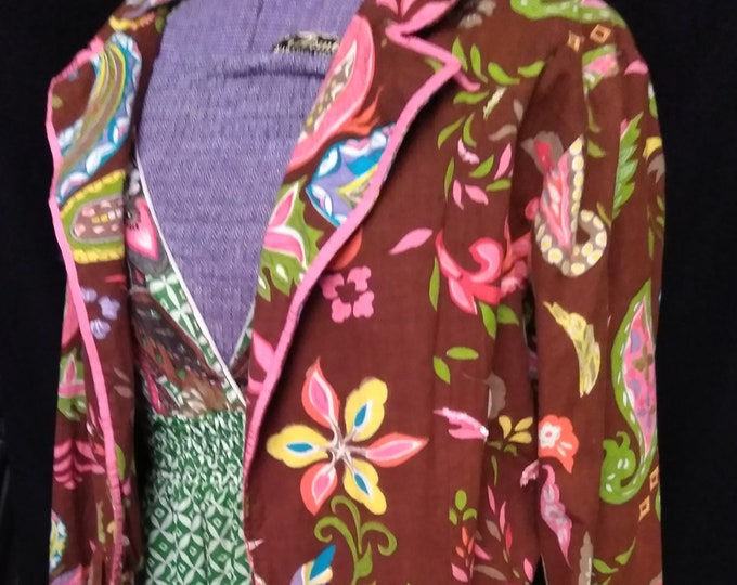 SALE! Vintage Cotton Paisley Jacket Made in India