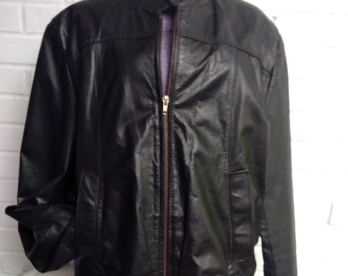 Vintage 90's Jean Pierre Men's Leather Jacket