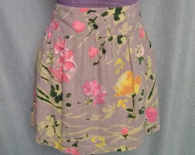 Cotton Linen Mini Skirt
