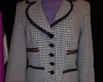 Black & Pink 90's Houndstooth Jacket