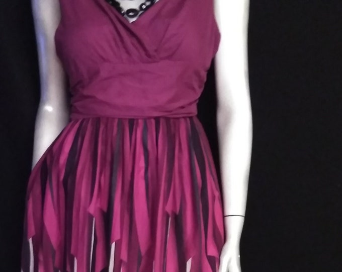 SALE! Beautiful Purple Ribbon Print Dress