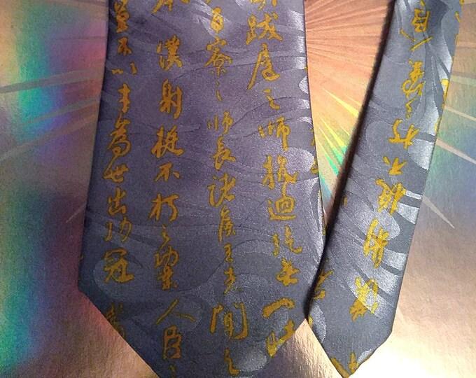 Vintage 90's Baijain Handmade Silk Neck Tie