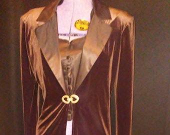 Velvet & Satin Unique Party Coat