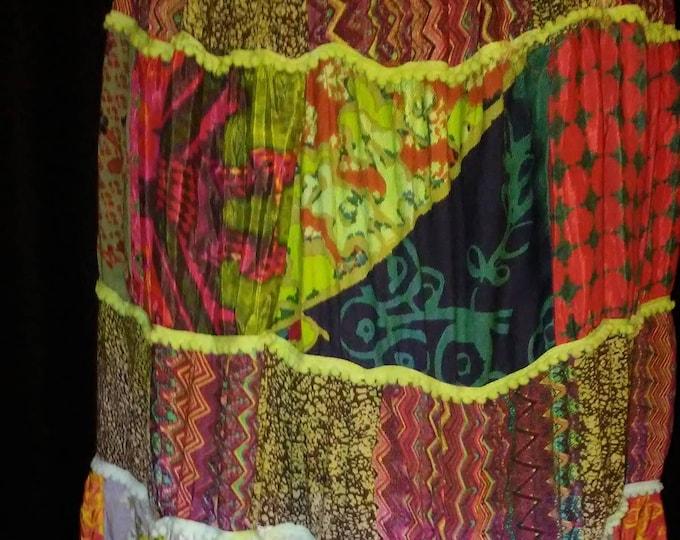 Amazing Vintage 70's Patchwork Skirt