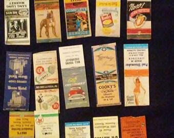Vintage Matchbook Cover Lot