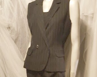 Vintage 80's Breakin Loose 3 Pc. Pin Striped Suit