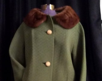 Tailored Vintage 60's Textured Wool Coat