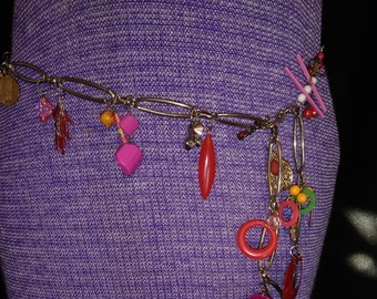 Handmade Whimsical Charm Chain Belt