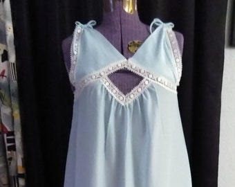 Vintage 60's,70's Baby Blue Nightie by Cheoette