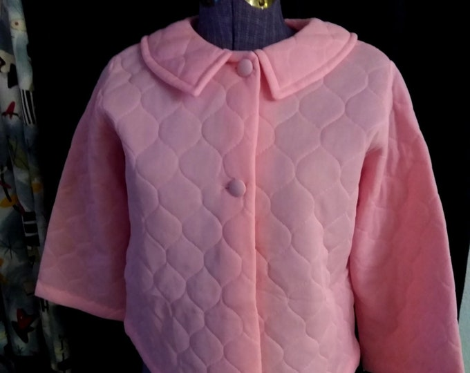 Vintage Pink Quilted Bed Jacket by Nymphorm