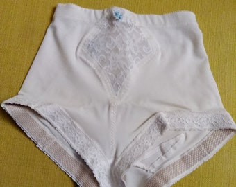 Vintage Burgundy Firm Tummy Control Stretch Briefs Knickers Panty Girdle Sissy
