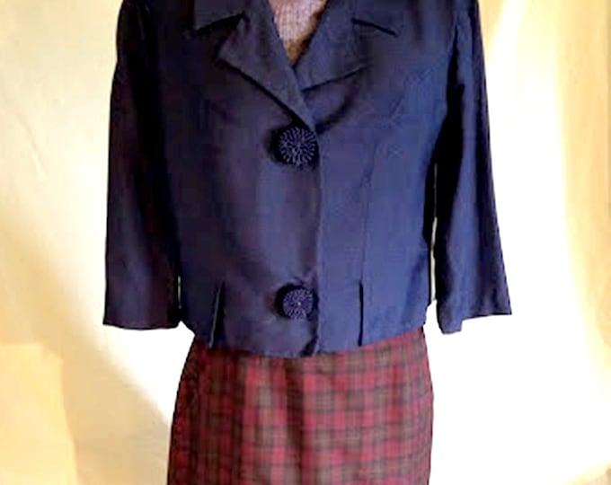 Fabulous Vintage 60's Silk & Rayon Jacket NWT Never Worn