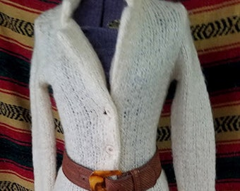Swanky Vintage 80's Fitted Sweater Coat