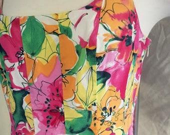 Vintage Cotton Floral Sundress