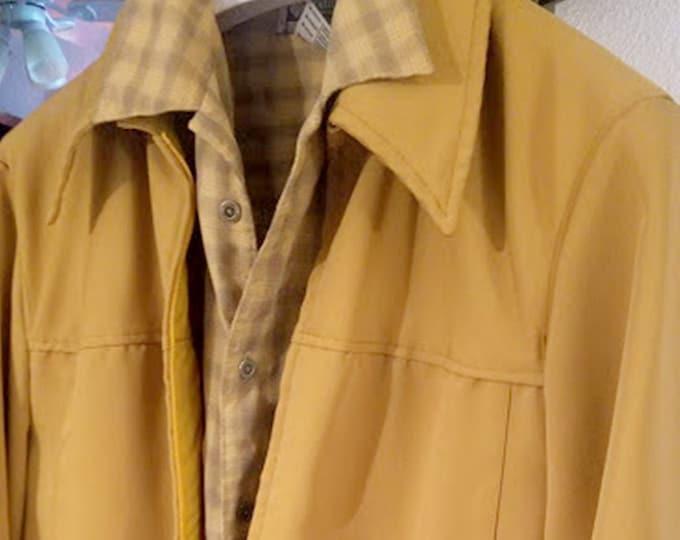 Vintage 60's Towncraft Mustard Gold Jacket Size XL