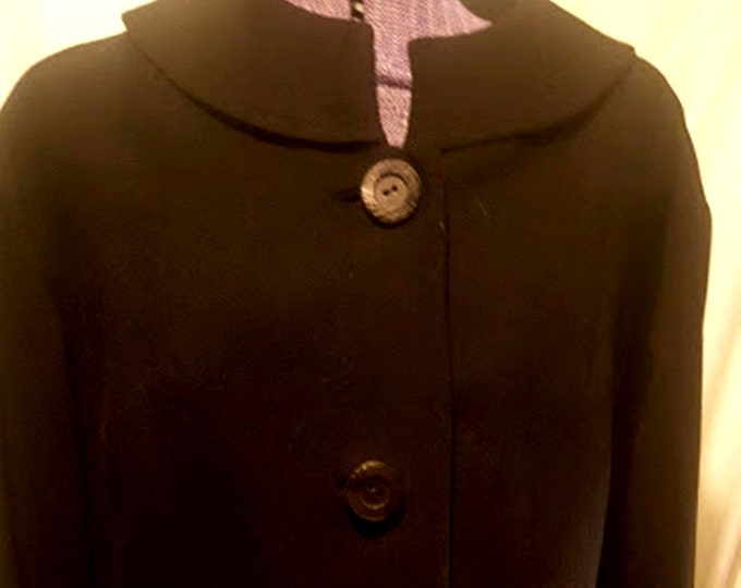 Vintage 1950's Worsted Wool Tailored Jacket