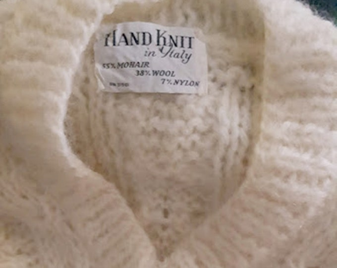 Vintage 60's Mohair Sweater Made in Italy