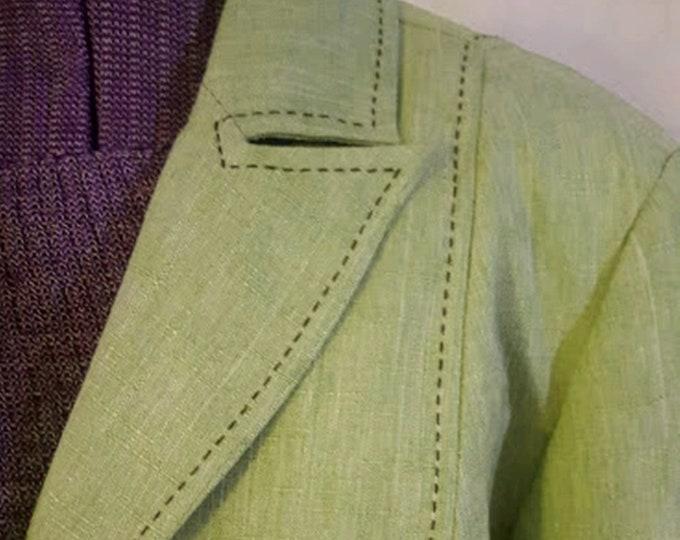 Vintage Alfred Dunner Lime Green Blazer