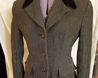 Vintage 80's, 1940's Style Anne Taylor Wool/Rayon Jacket