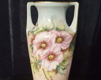 Vintage 60's Floral Ceramic Vase