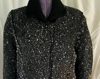 Vintage 80's Handmade in Oregon Mari Wool Tweed Jacket