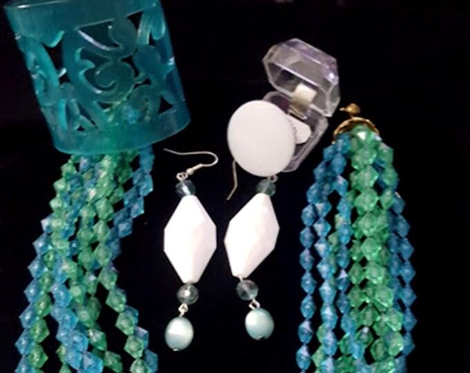 5 Piece Recycled Vintage Jewelry Set