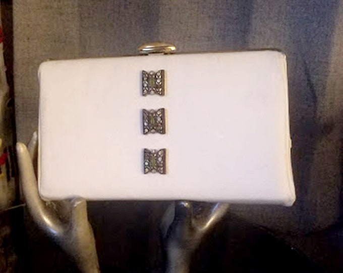 Vintage Jeweled Fabric Clutch Purse