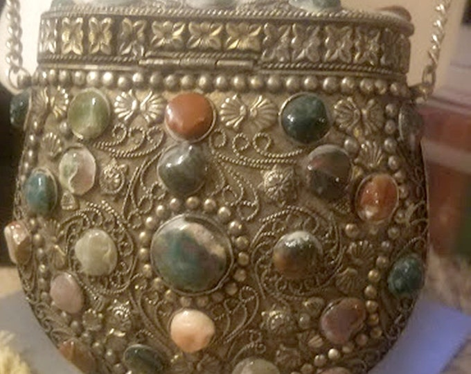Unique Rare Vintage Turkish Metal & Rock Purse