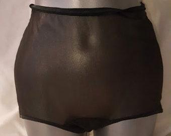 Vintage 60's Sheer Black Nylon Panties