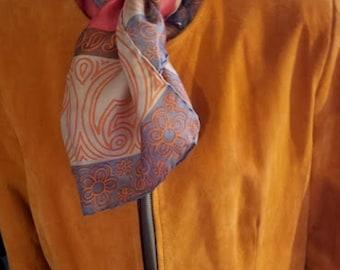Vintage 90's Terry Lewis Tangerine Ultra-Suede Jacket