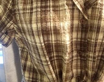 Made In India Vintage Seersucker Cotton Top