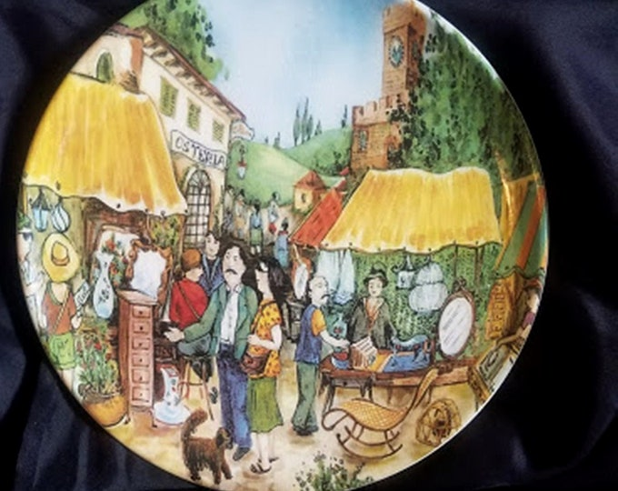 Made in Italy Hand-Painted Ceramic Plate