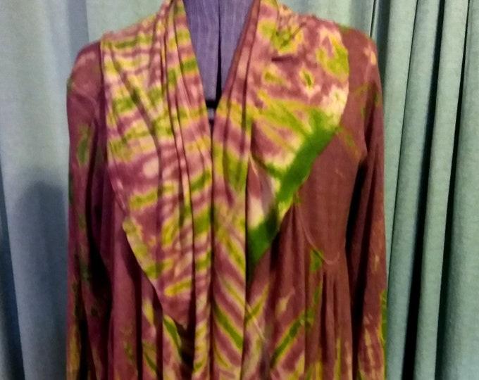 Made in Nepal Luxurious Tie-Dye Top/Jacket
