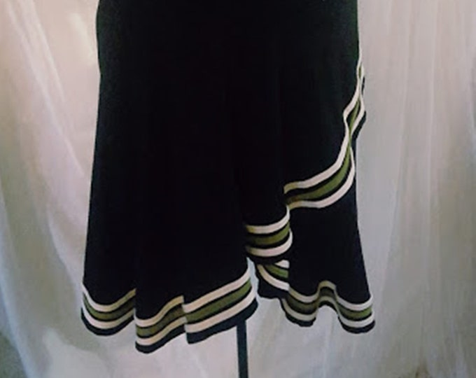Vintage 80's Soft Rayon Swirl Skirt