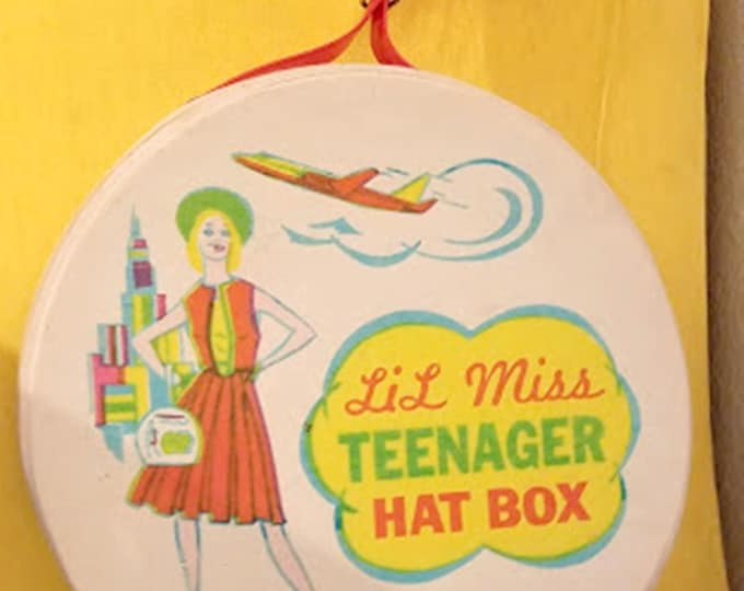 Vintage 60's Lil Miss Teenager Travel Case Hat Box