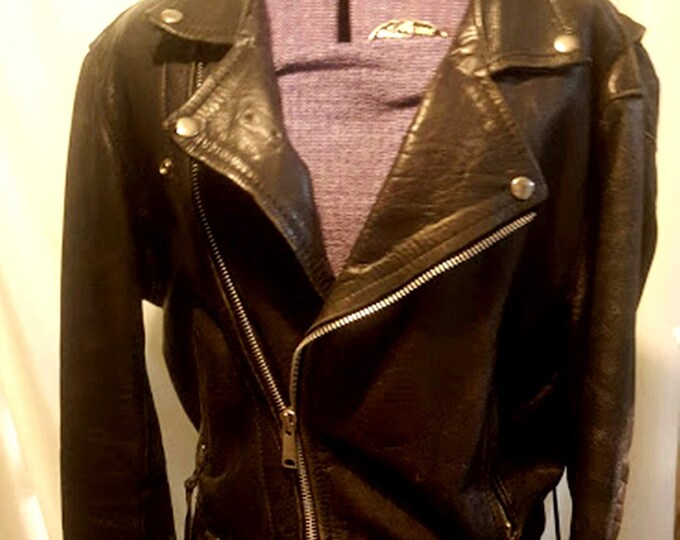 Rare Vintage 80's Leather Jacket from London