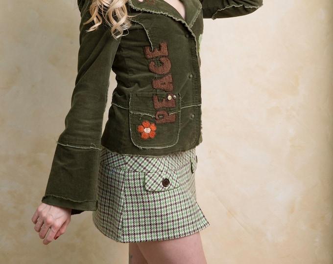 Vintage 90's Ambercrombie Plaid Mini Skirt